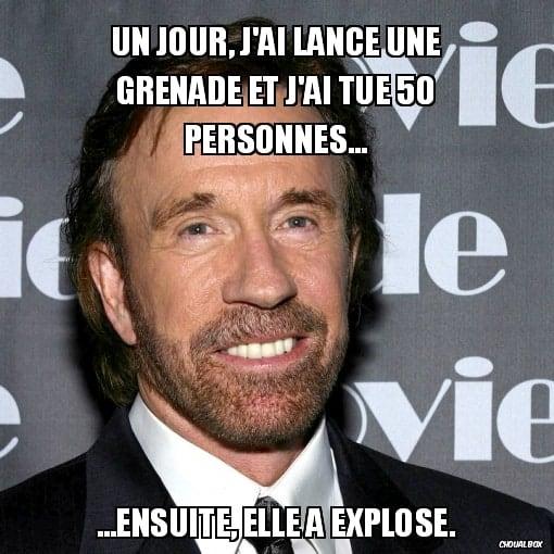 Chuck Norris Fact - La Grenade