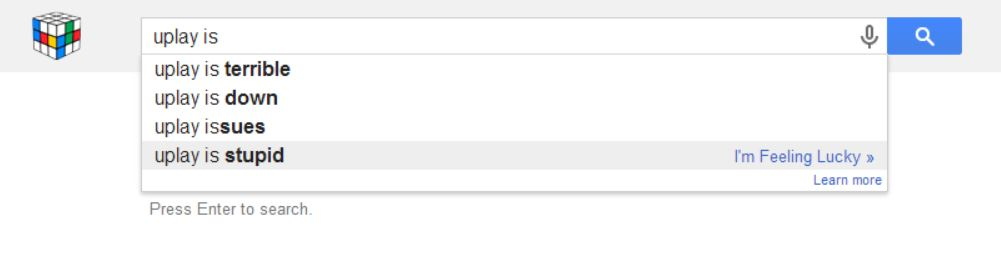 uPlay - La vérité sort de la bouche de Google