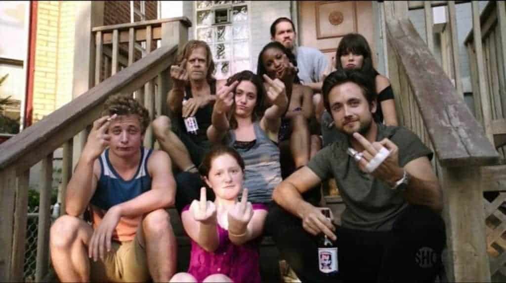 Shameless - La famille gallagher - fuck off