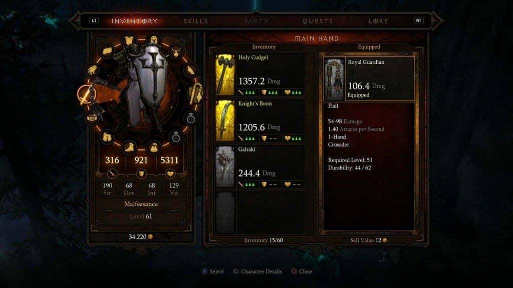 Diablo 3 : La manette tactile simplifie la gestion de l'inventaire