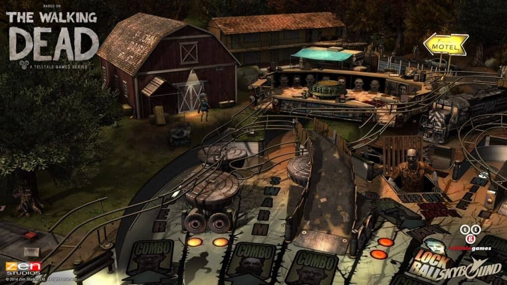 The Walking Dead Pinball - La fameuse grange est présente.