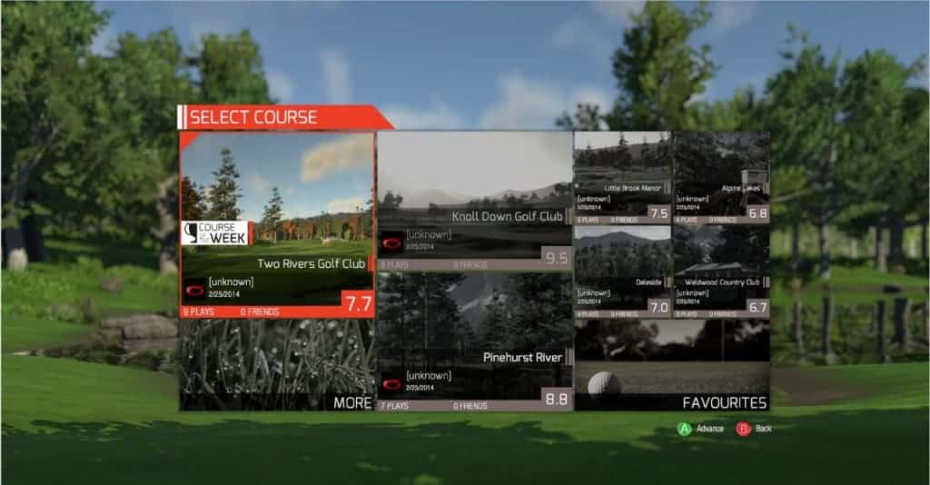 The Golf Club - Une interface soignée