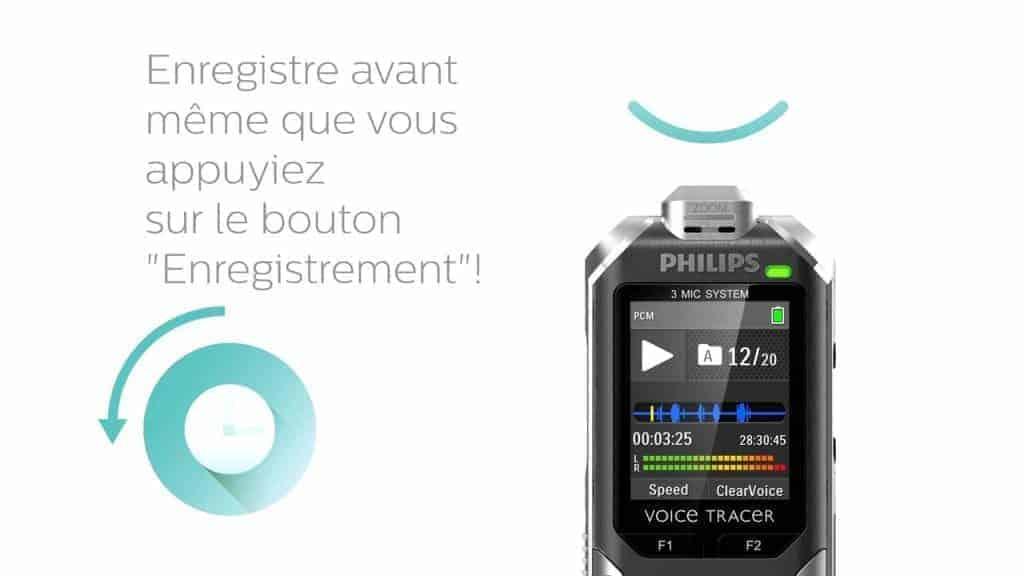 Philips Voice Tracer - Il enregistre déjà avant que vous ne pressiez sur le bouton pour ne rien louper