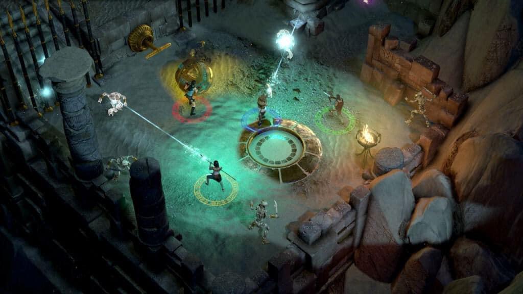 Lara Croft et le temple d'Osiris - En vue de dessus façon Diablo
