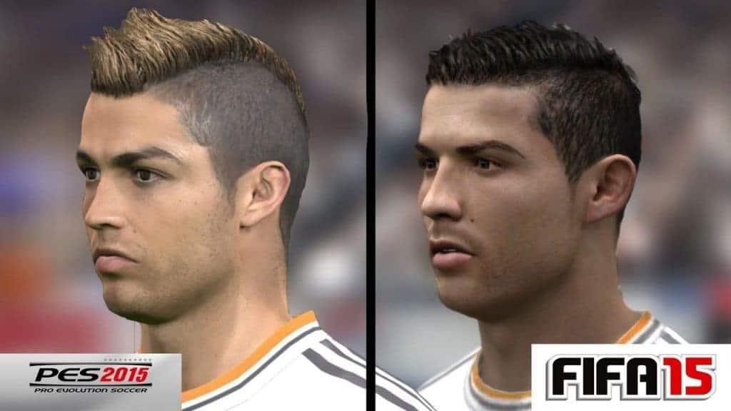PES 2015 - Comparaison des visages entre PES et FIFA...