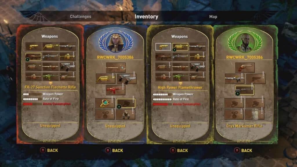 Lara Croft et le temple d'Osiris - La gestion des compétences de votre personnage