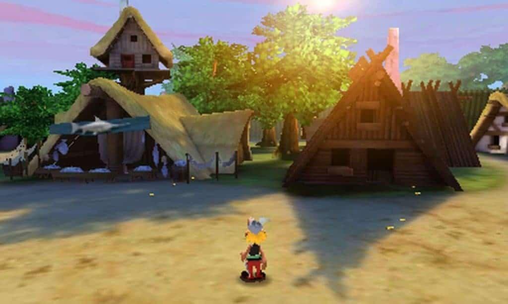 Asterix et le domaine des dieux - Le village avec sa vue wide façon go pro
