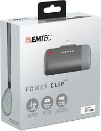 Le EMTEC PowerClip dans son emballage - Juste ce qu'il faut