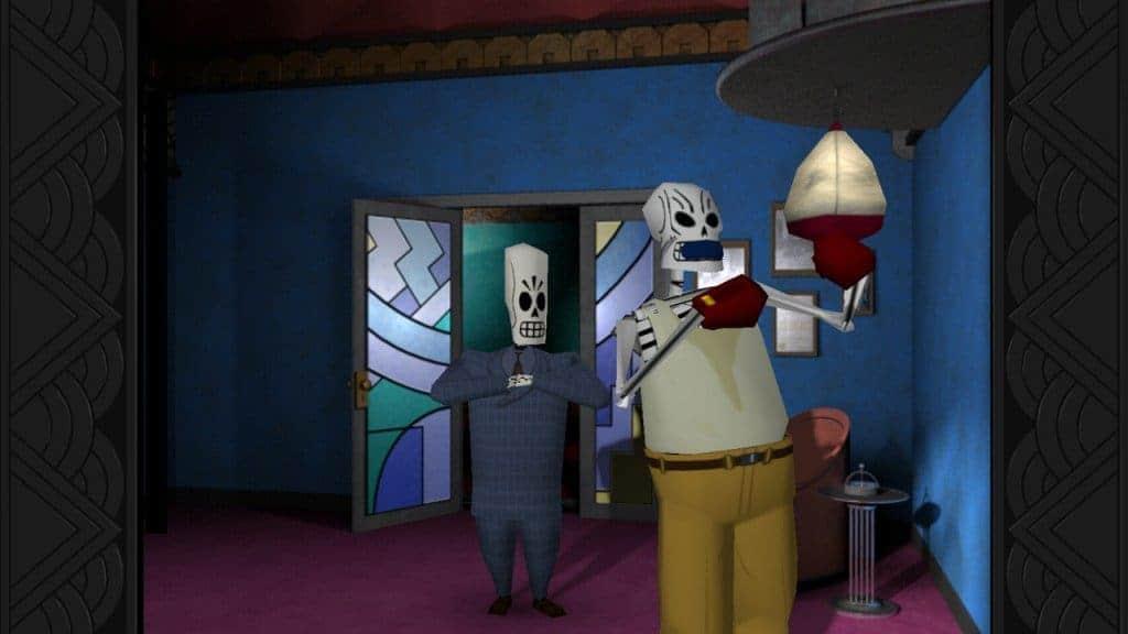 Grim Fandango Remastered : Manny face à son rival