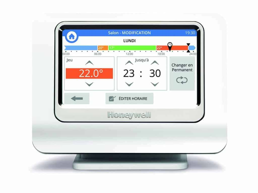 Thermostat Honeywell evohome  - la programmation est aisée sur l'interface du système