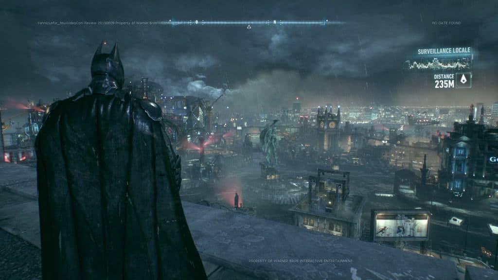Batman Arkham Knight - Observez les effets de pluie