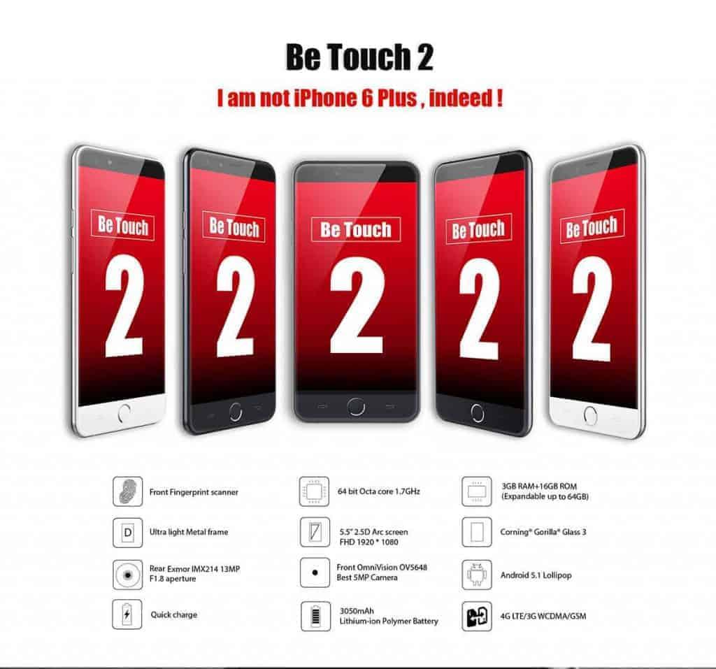Ulefone Be Touch 2 - De belles capacités techniques