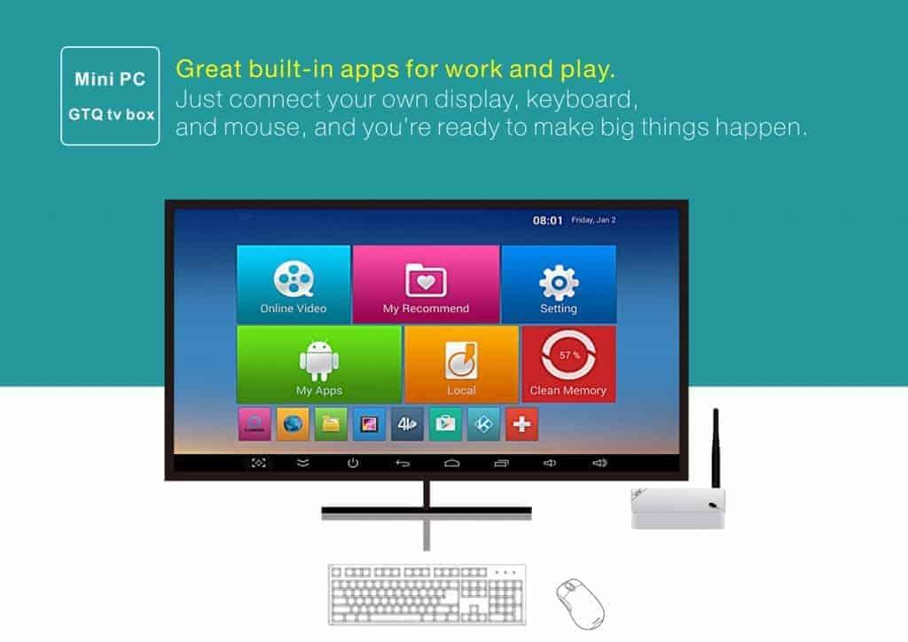 Beelink GTQ TV Box - Une Box TV moderne basée sur Android
