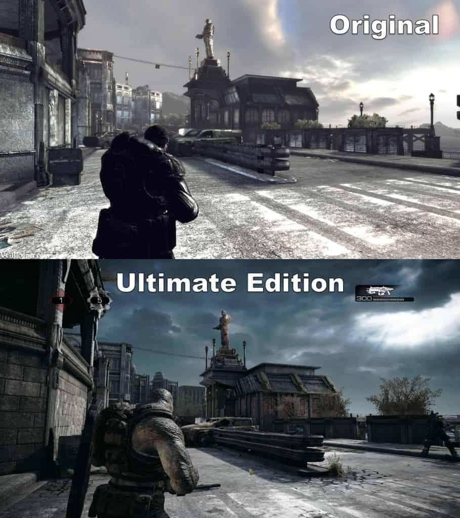 Gears of war ultimate edition - La comparaison avant /après