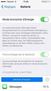 iOS 9 - Un nouveau mode économie d'énergie