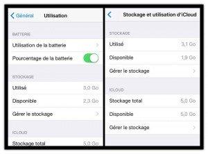 iOS 9 - Un gain de place pas si évident que cela
