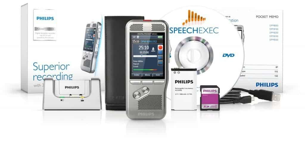 Philips DPM 8200 - Avec la suite complête SpeechExec vous pouvez transcrire facilement vos enregistrements (compatible Dragon Naturally Speaking)