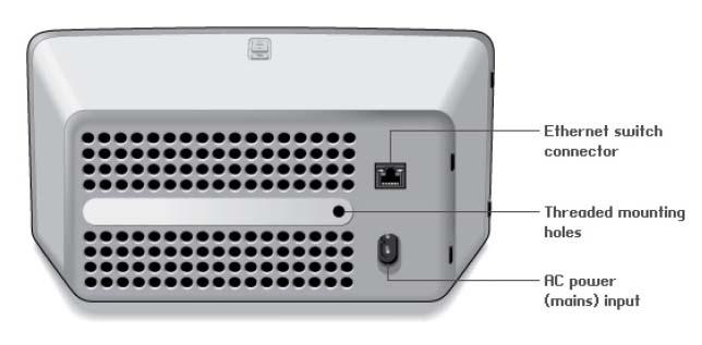 Sonos Play:3 - Derrière, c'est presque le néant :une entrée réseau et l'alimentation, c'est insuffisant !