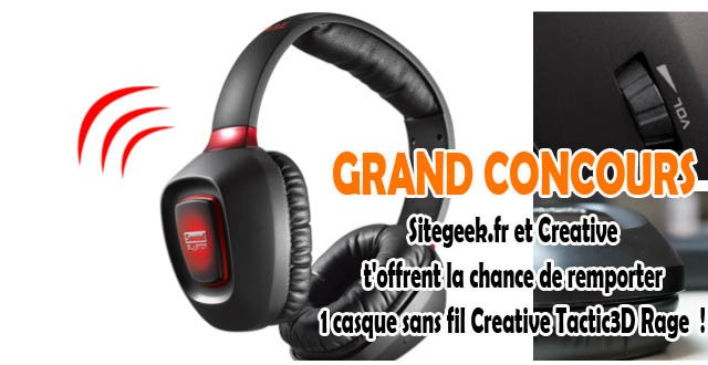 Concours Creative Sound Blaster Tactic3D Rage