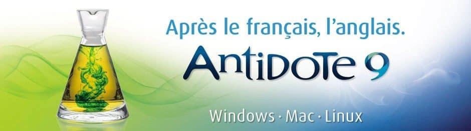 Antidote 9 - L'anglais est maintenant disponible