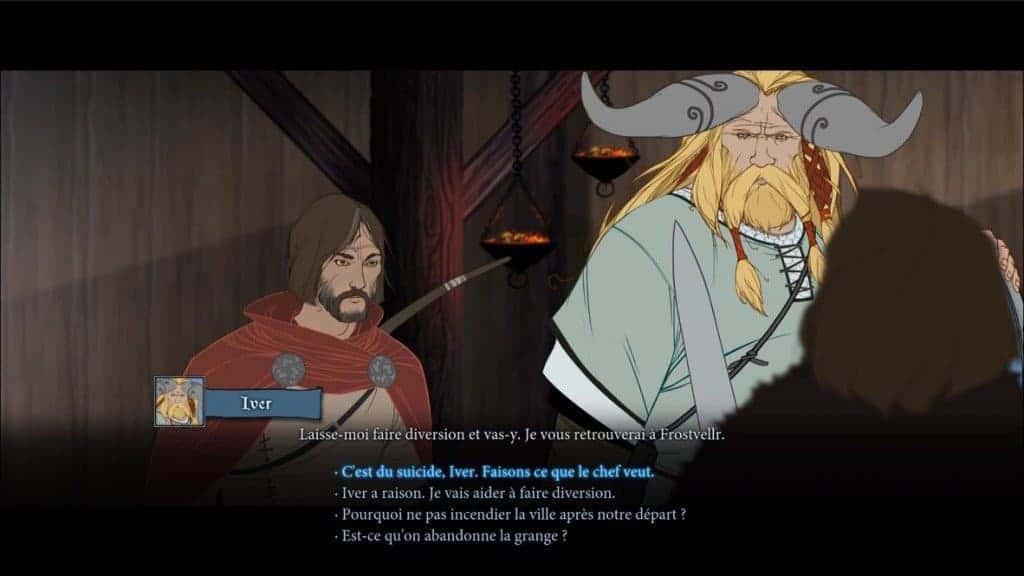 The Banner Saga - Pas toujours facile de savoir qui parle !