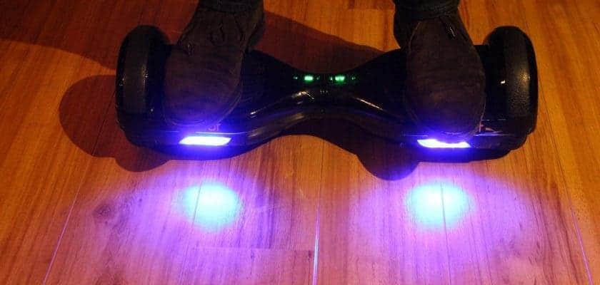 Hoverboard Weebot - lumière du dessous