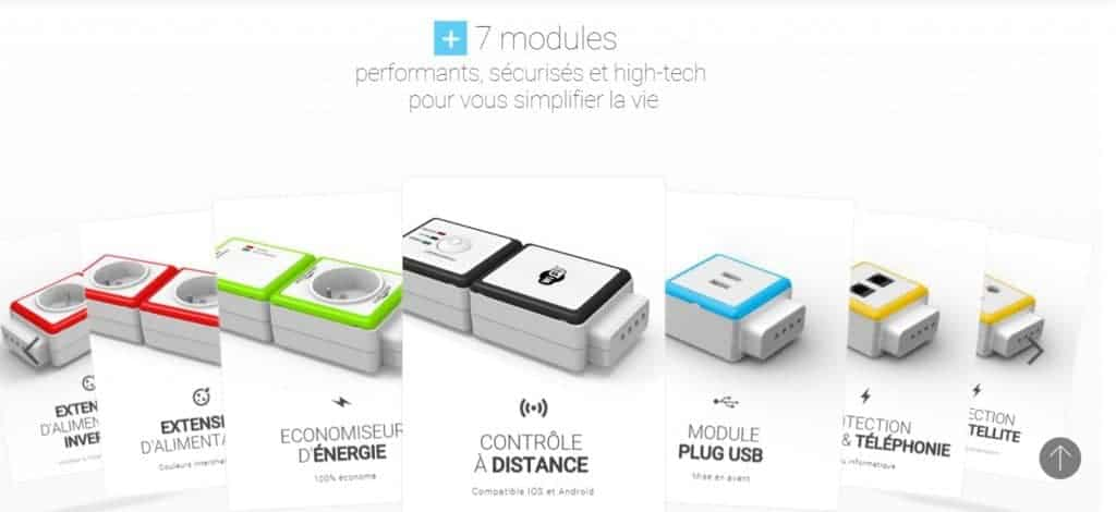 Les différents modules Moduloplug