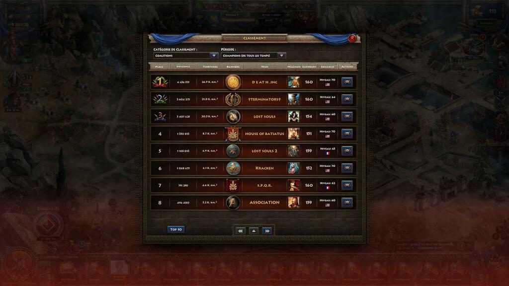 Sparta War of empires - Une fois la base maitrisée, partez à l'assaut du classement en ligne