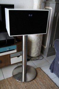 Soundtower XL - Un pied solide, mais une enceinte fragile.