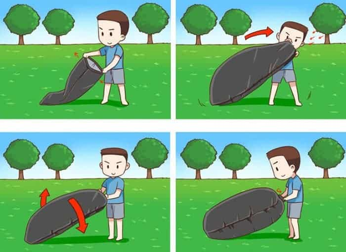 Lazy Bag - Facile a gonfler et dégonfler