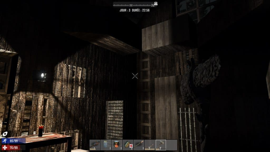 Une petite échelle au mur et je peux aller à l'étage la nuit.
