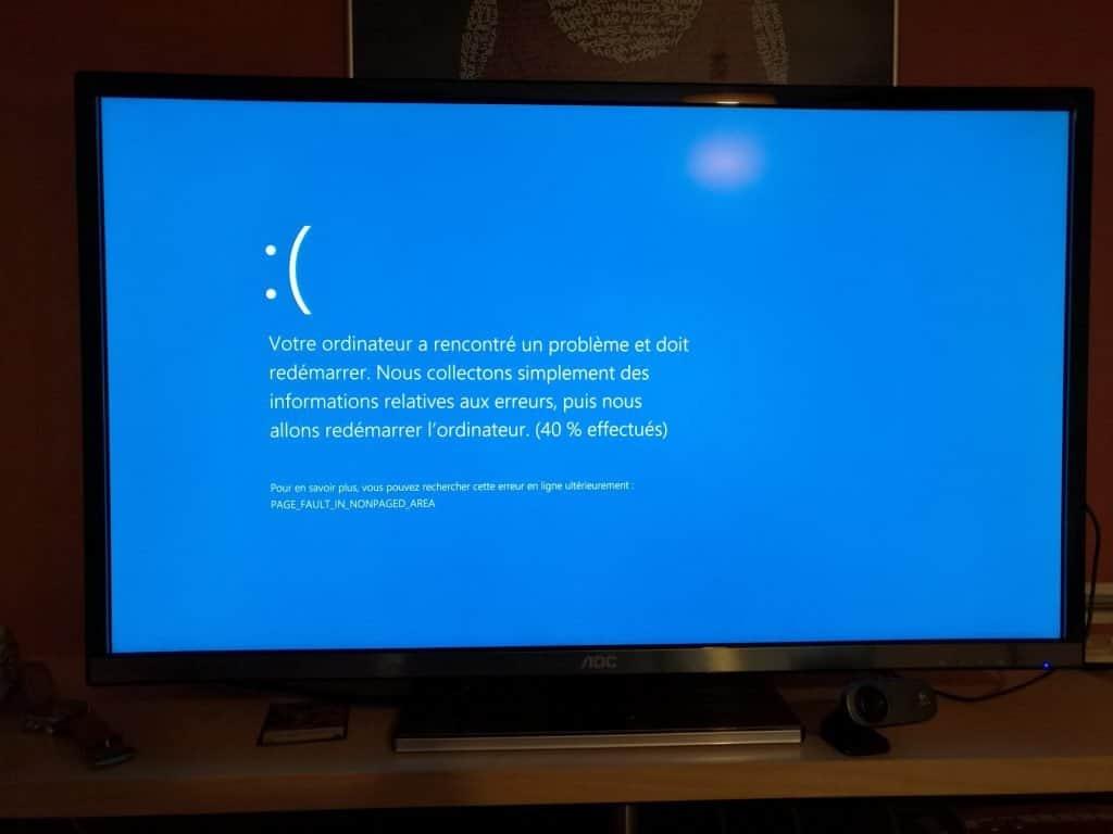 """Alienware X51 R3 - Ah oui, j'ai même eu un plantage """"écran bleu"""" lors d'un stress test."""