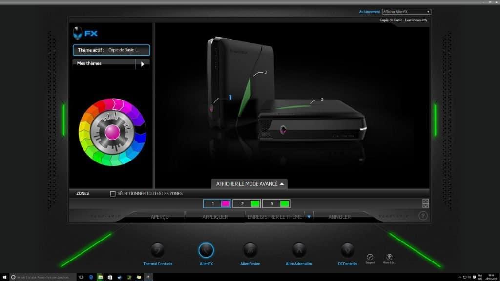 Alienware X51 R3 - Logiciel