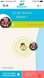 Beawarn - L'application vous avertit directement en cas d'éloignement