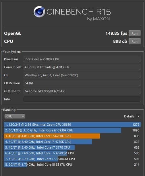 Alienware X51 R3 - CPU au top sous Cinebench