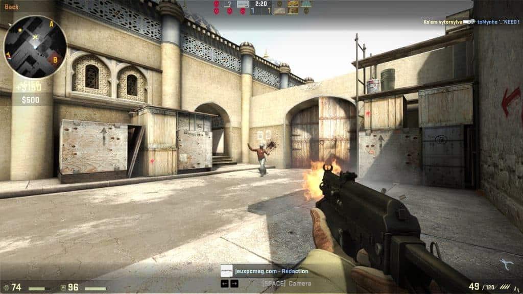 Counter Strike - Votre habileté à la souris permet de distribuer des headshots