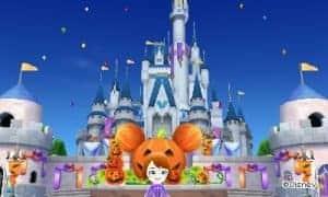 l'entrée du château décoré en fonction des événements.