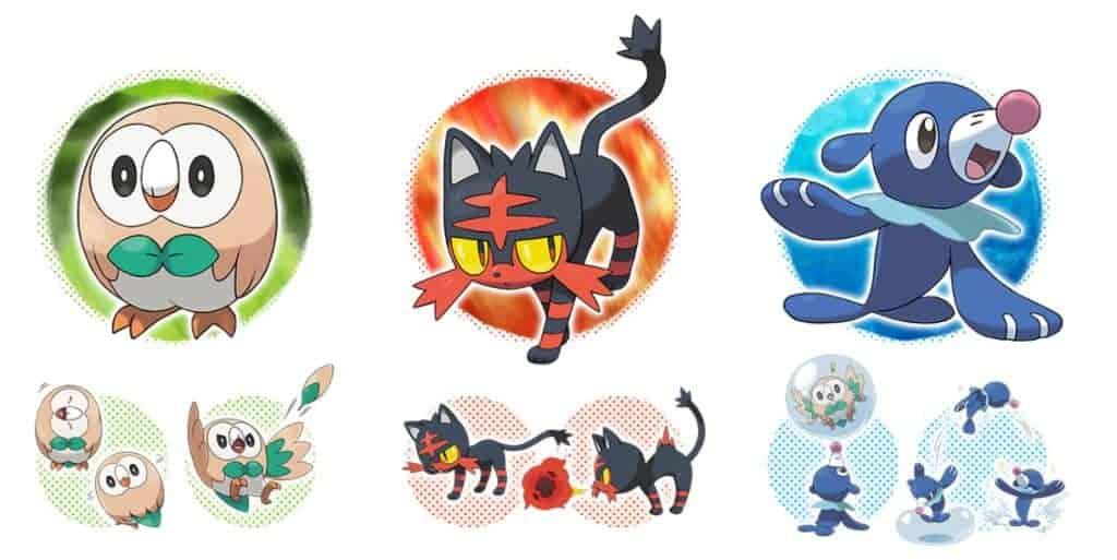 Pokemon Lune - Les nouveaux starters sont mignons tout pleins.