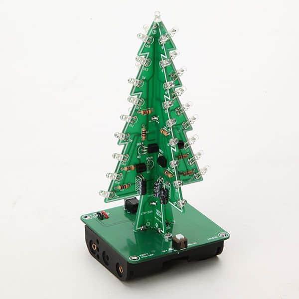 Sapin de Noël 3d didactique pour apprendre l'éléctronique