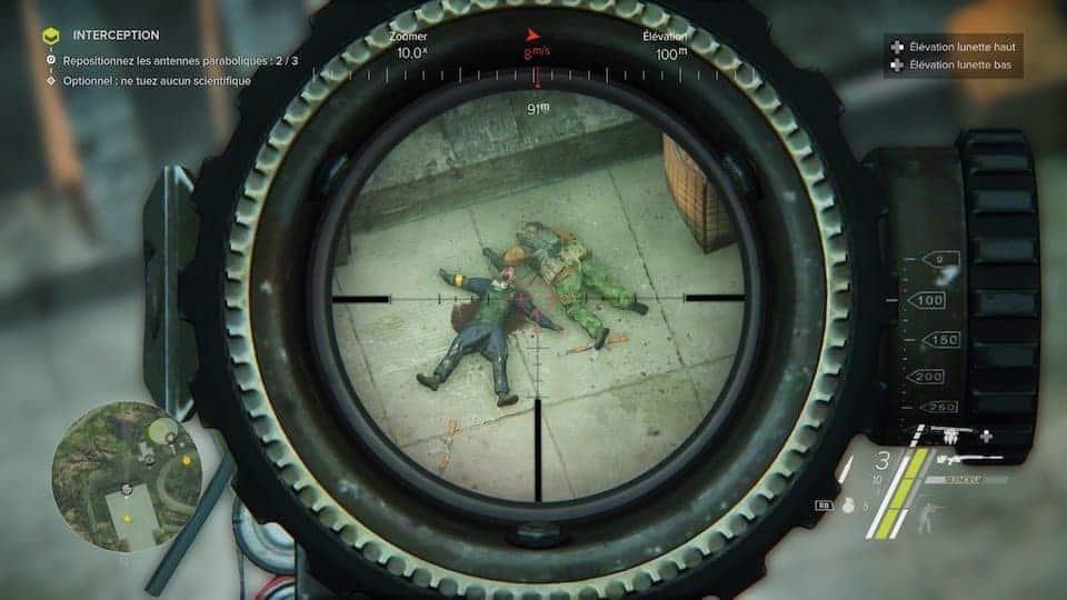 Le système de snipe fonctionne bien, heureusement !