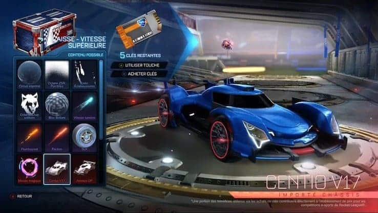 Rocket League Saison 5 - La caisse de vitesse supérieur entre en scène.