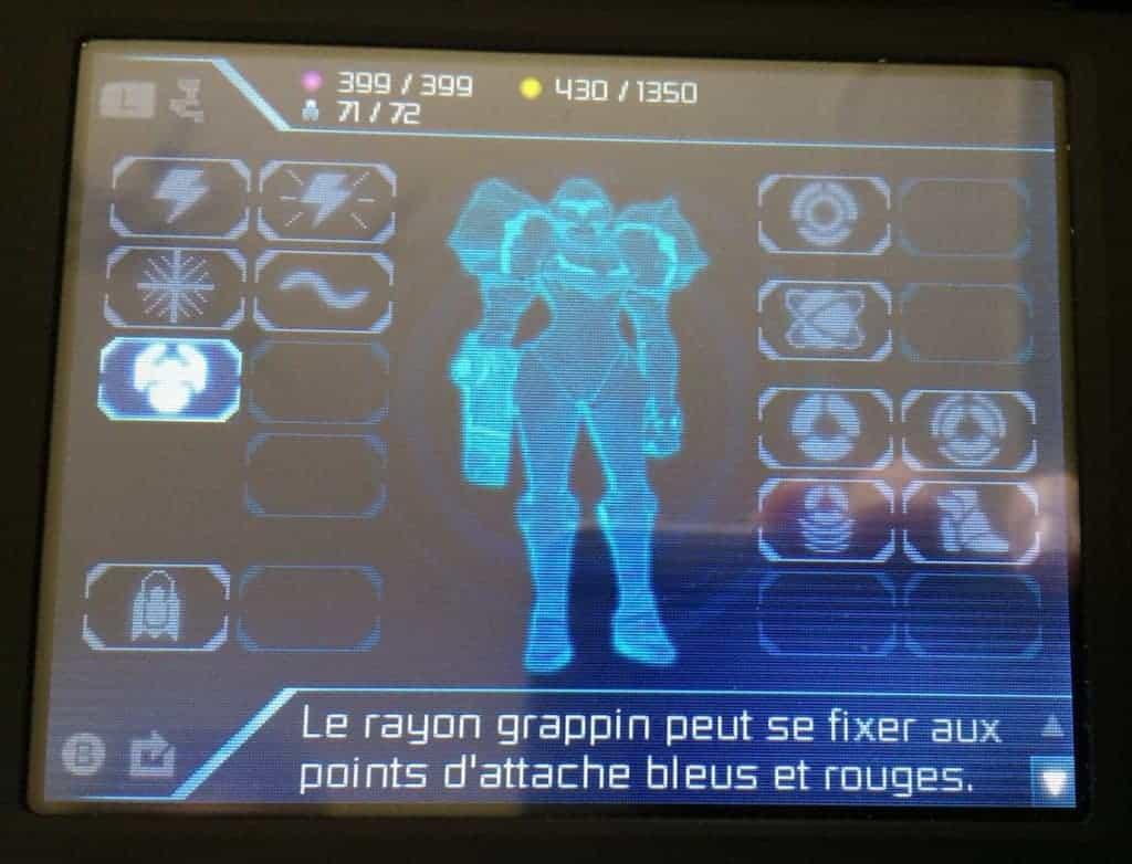 Metroid Samus Returns - Trés vite votre arsenal deviendra impressionnant !