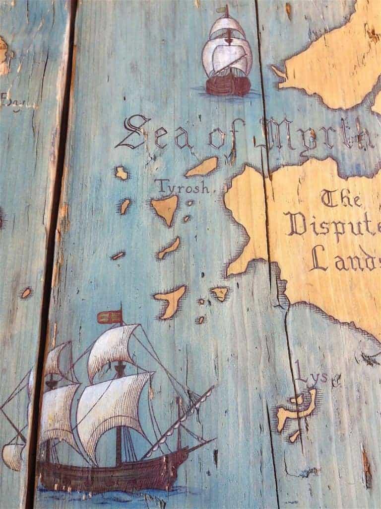 Les bateaux pour rappellent les épopées de la série