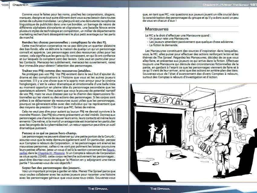 The Sprawl illustration d'intérieur de chapitre