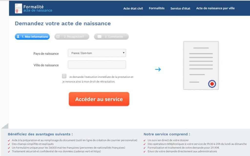 Le service d'acte de naissance en ligne est disponible dès maintenant !