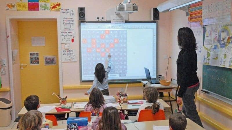Un tableau interactif en classe?