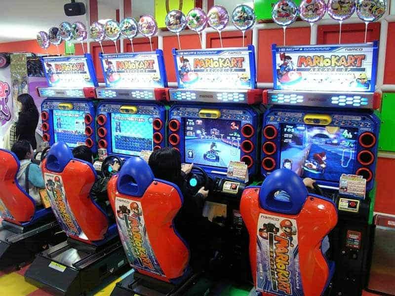 Orgasmique le Mario Kart sur borne d'arcade !
