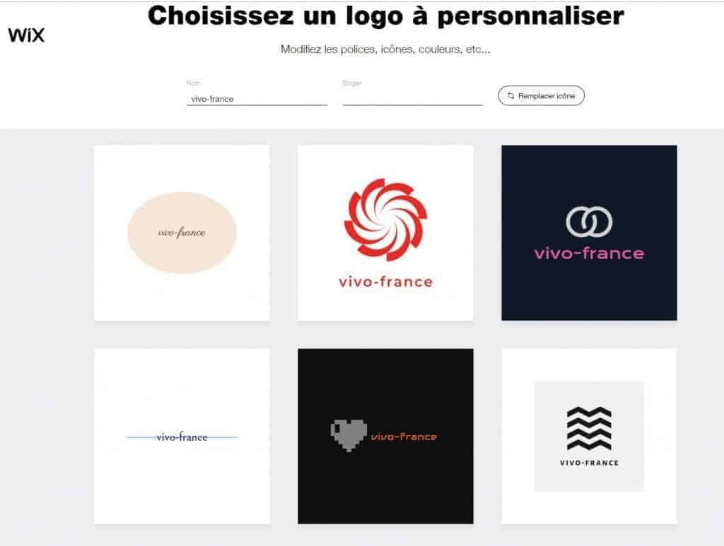 Le site vous permet même de générer des logos professionnels