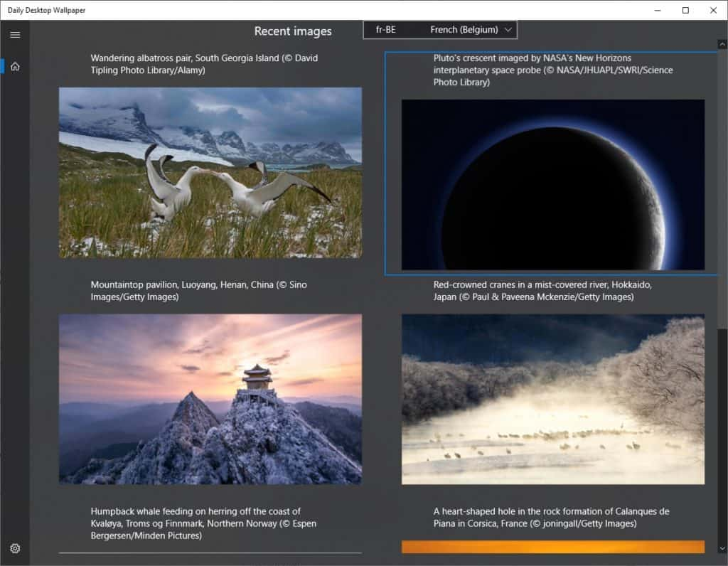 Bing Fond d'écran journalier