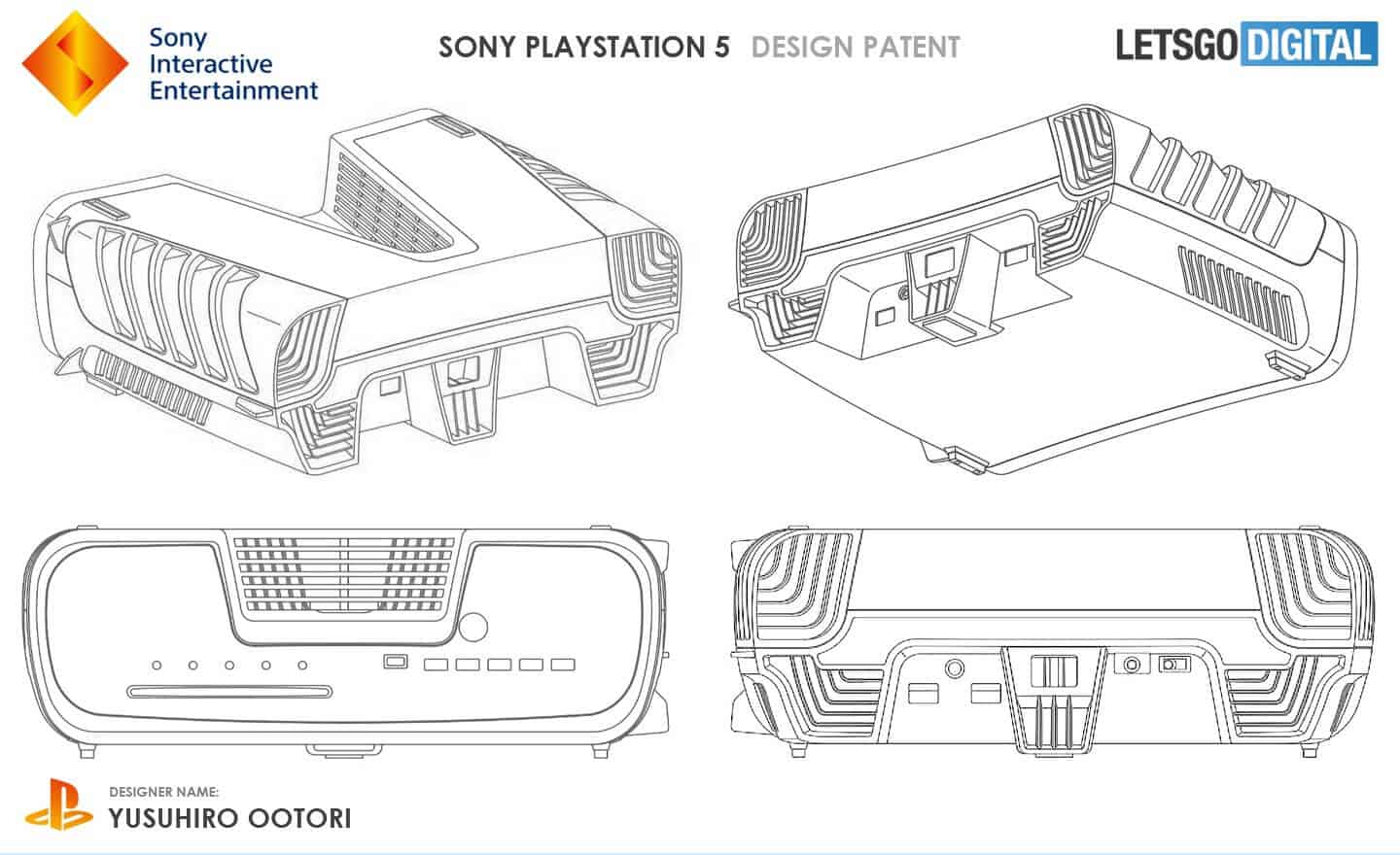 Playstation 5 - Voici les plans du design de la PS5